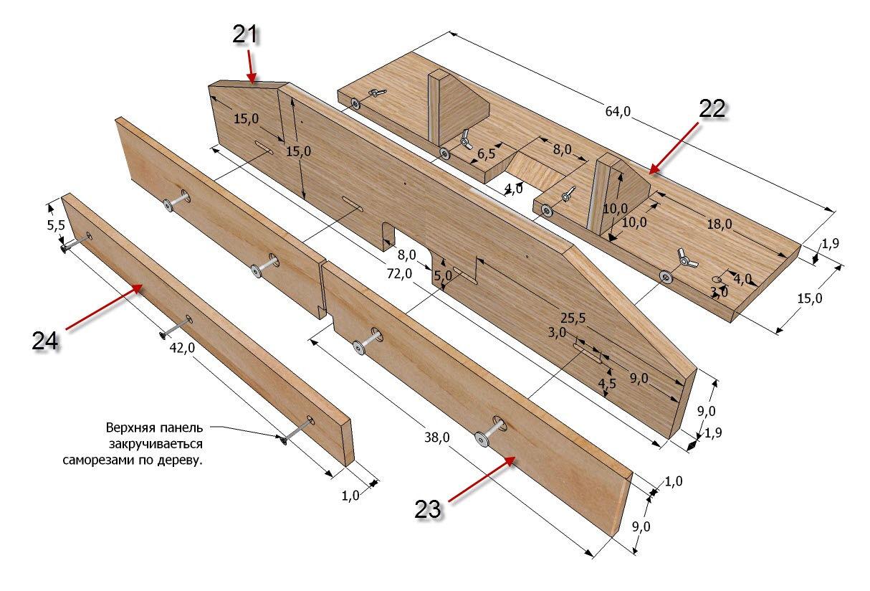 Чертежи стола для ручным фрезером своими руками