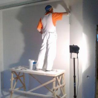Шпаклёвка стен под обои. Этап 2