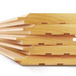 Обшивка внешних и внутренних стен имитацией бруса из лиственницы