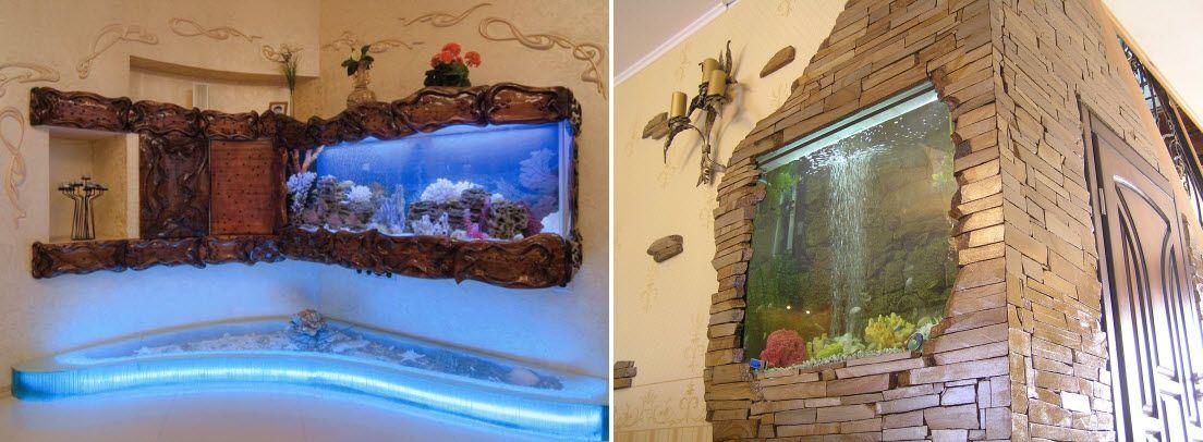Используем аквариум в интерьере