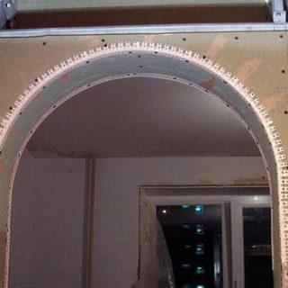 Наиболее распространённые способы создания арки из гипсокартона