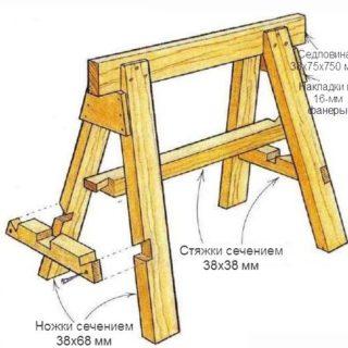 Как сделать строительные козлы самому