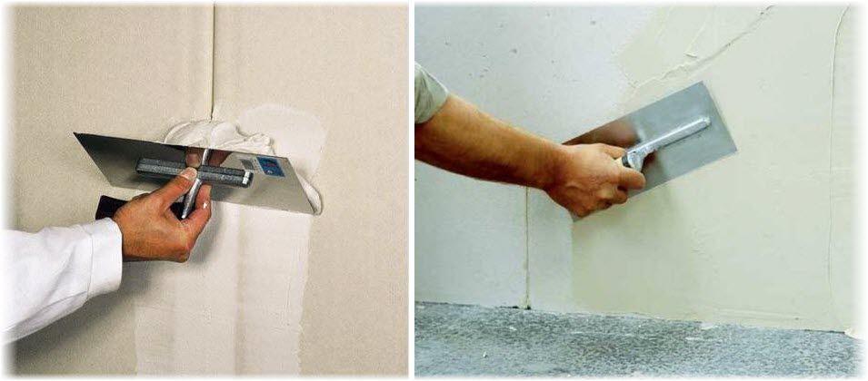 Как наносить шпаклевку на стену