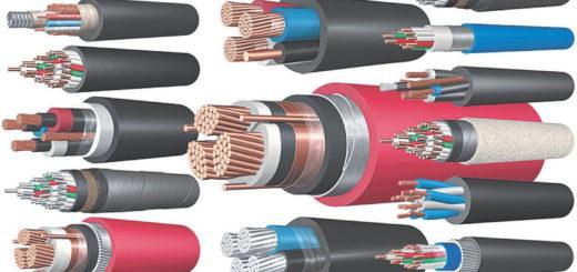 Основные виды электрических кабелей, проводов и шнуров