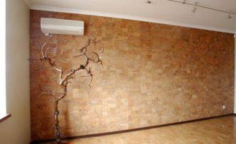 Пробковое покрытие на стены дома