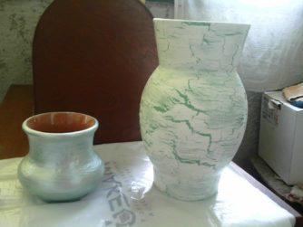 Как я преображала старую вазу