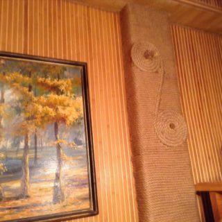 Декорация гипсокартонного короба веревкой