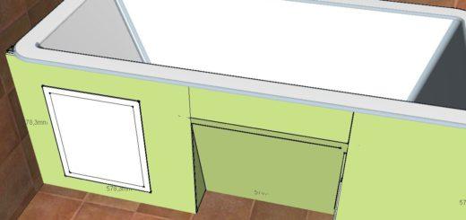 Как сделать экран для ванны из гипсокартона