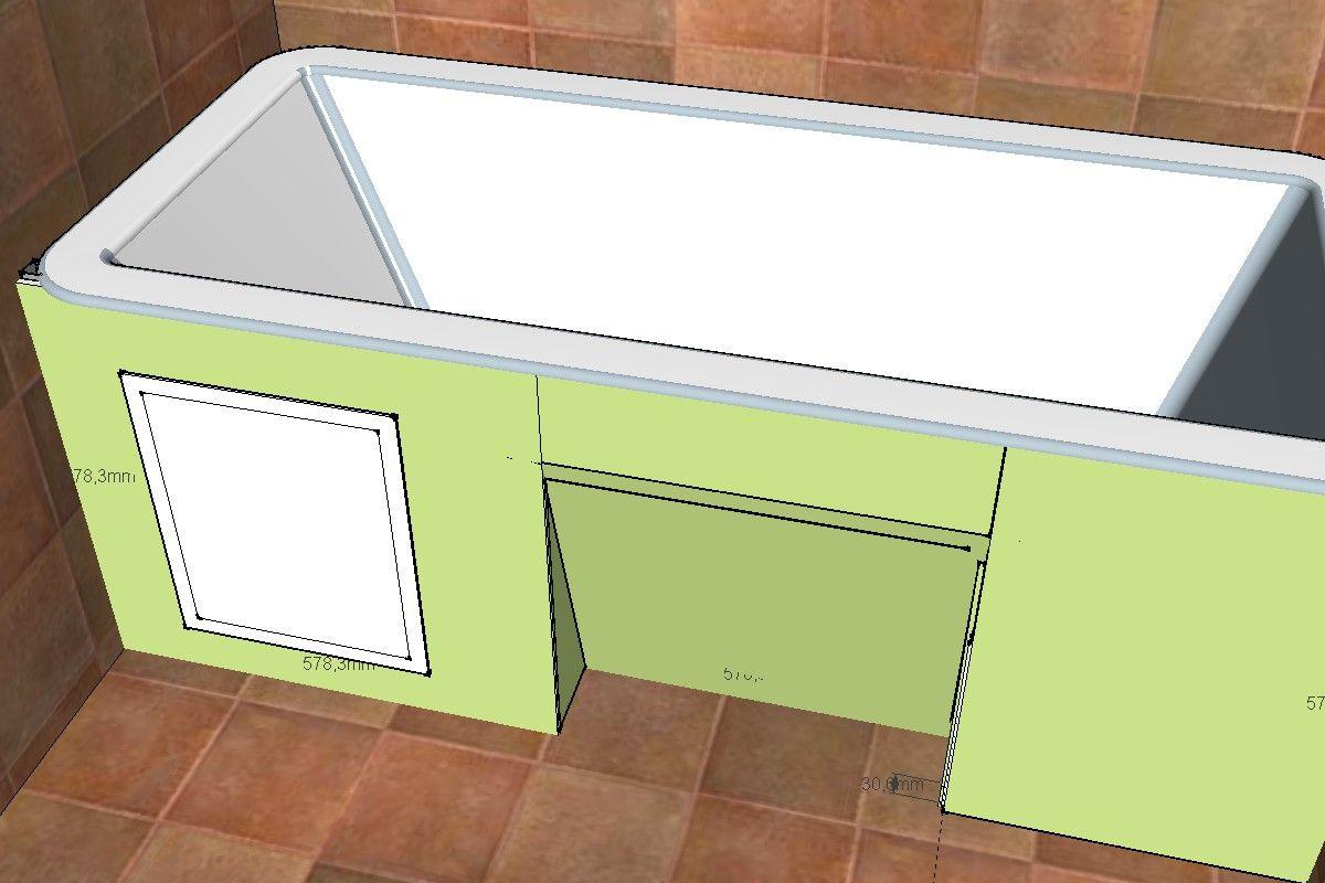 Экран под ванной из гипсокартона своими руками