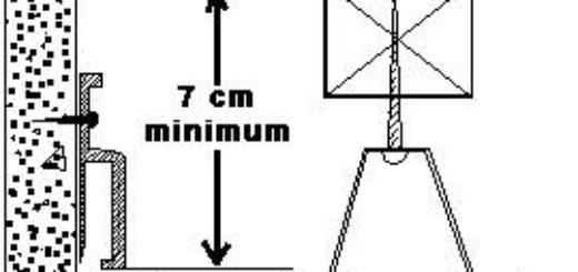 Установка натяжного потолка 4: установка стоек для точечных светильников