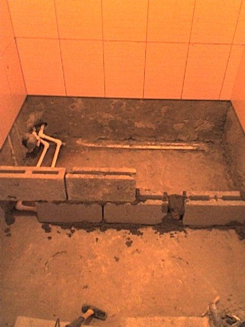 Душевой поддон из плитки вместо ванны