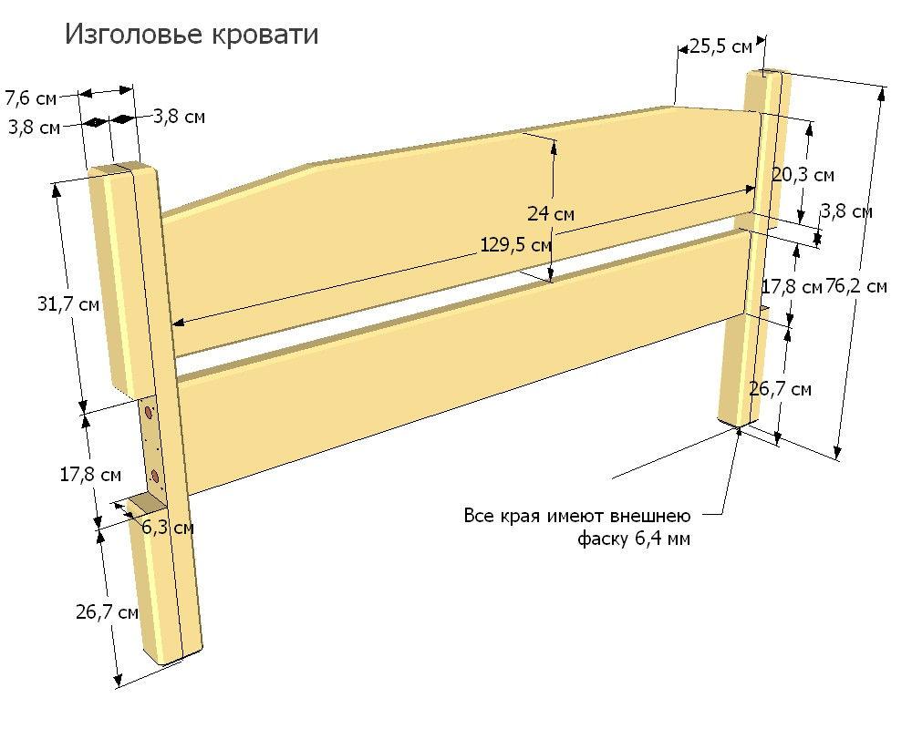 Полутораспальная кровать своими руками: размеры и этапы сборки