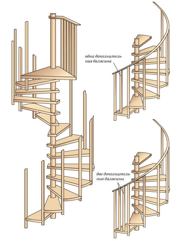 Сборка винтовой лестницы