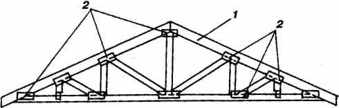 Конструкция узлов стропил и ферм