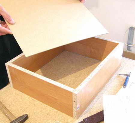 Как сделать ящик для мебели