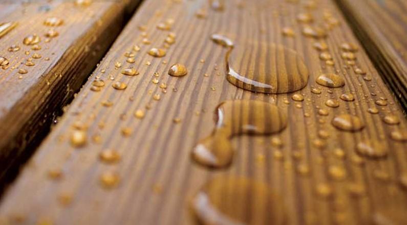 Защита дерева от воды шеллаковой грунтовкой