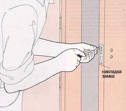 Установка двери и врезка замка: пошаговая инструкция