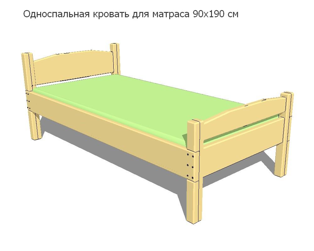 Односпальная кровать своими руками: размеры и этапы сборки