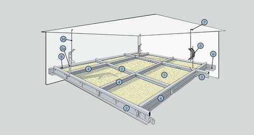 Расчет подвесного потолка Knauf AMF или Armstrong
