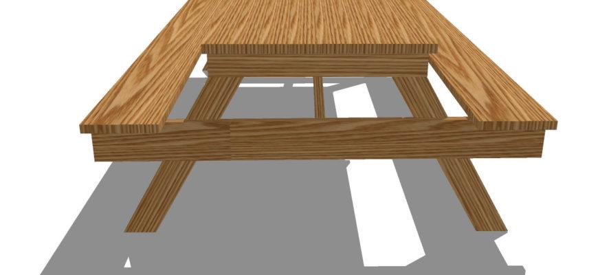 Стол для пикника своими руками: детали и размеры