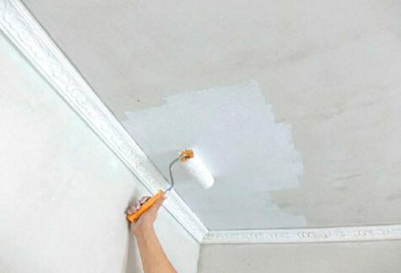 Побелка потолка своими силами