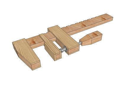 Деревянный фиксатор-струбцина