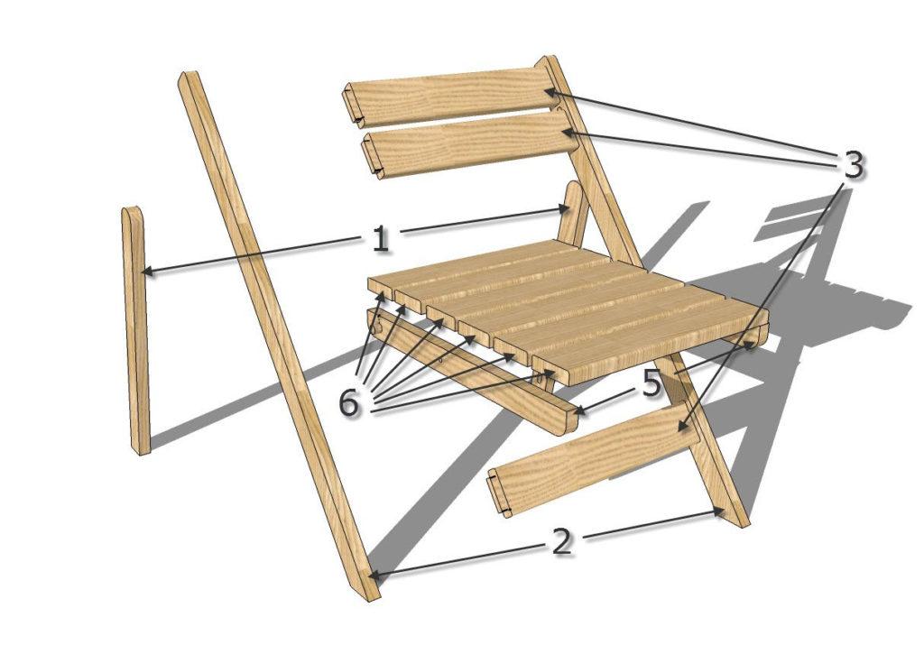 Складные стулья со спинкой своими руками чертежи фото 947