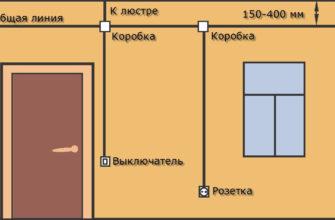 Схема монтажа освещения в квартире и частном доме