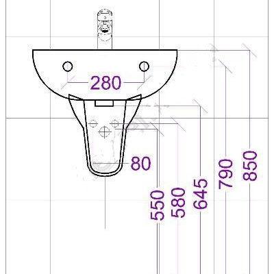Высота вывода труб воды и канализации