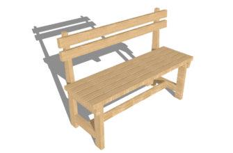 Садовая скамейка своими руками: размеры и порядок сборки