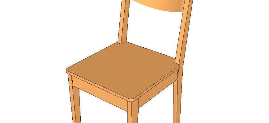 Как сделать стул своими руками: чертеж и процесс работы