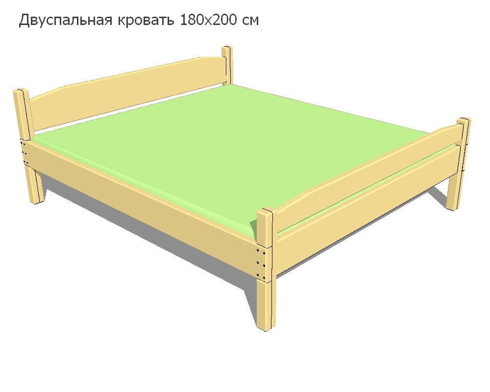 Двухспальная кровать своими руками: чертеж и этапы сборки