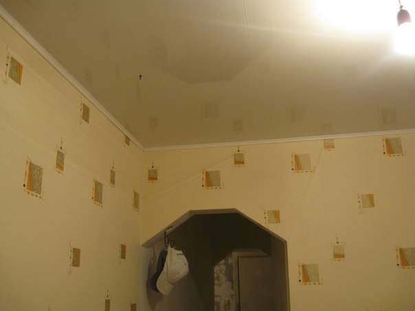 Монтаж пластикового потолка на кухне