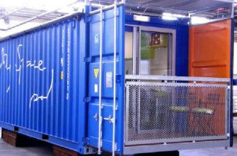Необычный дом из контейнера