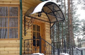 Как сделать крыльцо с навесом в частном доме
