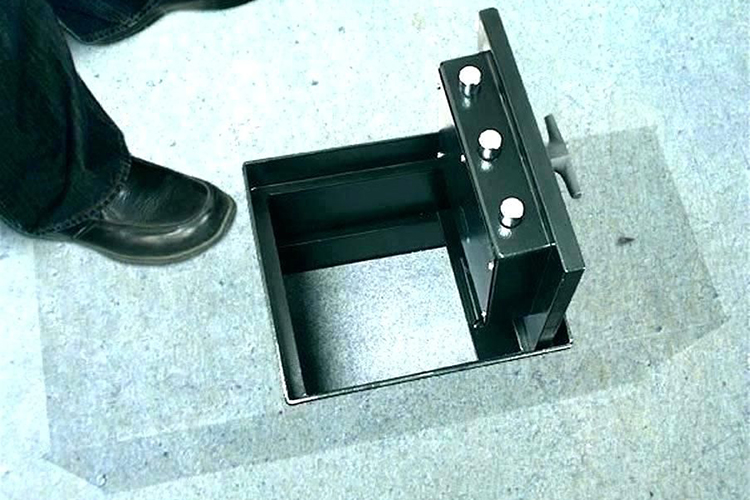 Этапы установки сейфа