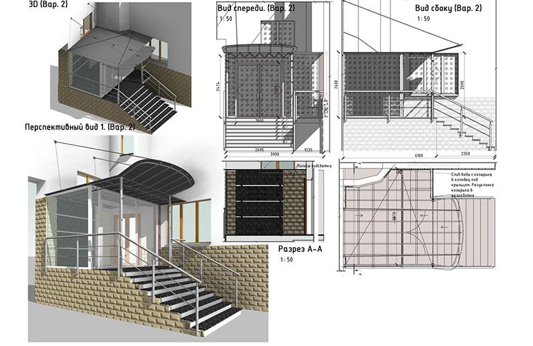 Проект крыльца частного дома