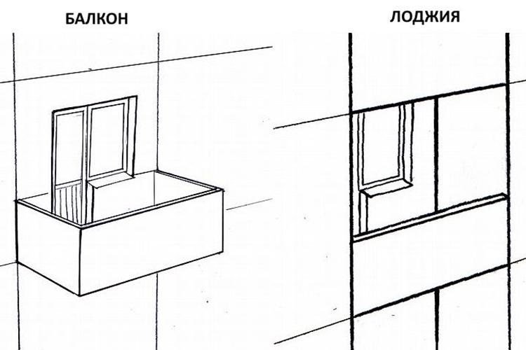 Балкон и лоджия - в чем разница
