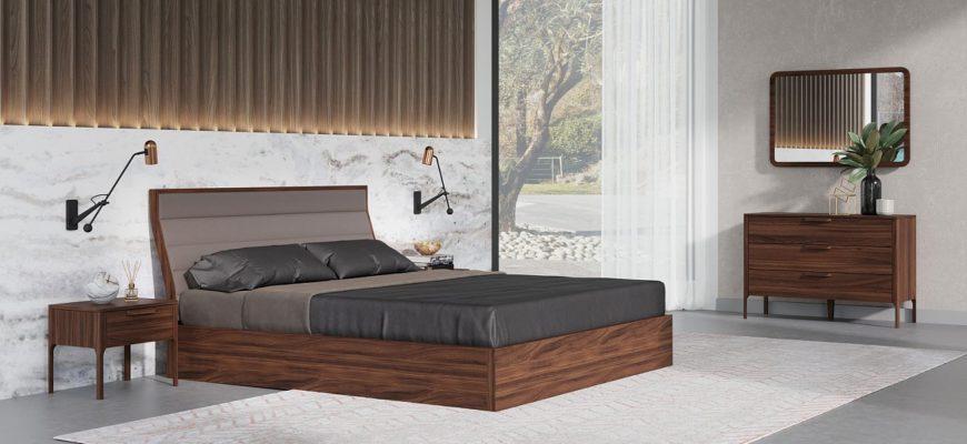 кровать для спальни в скандинавском стиле