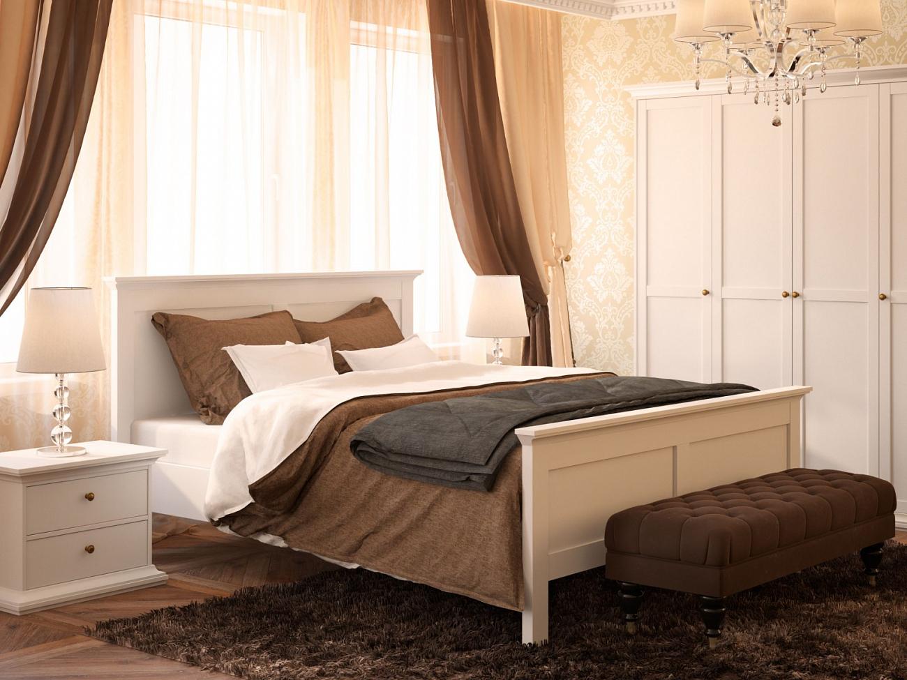 для спальни кровать в скандинавском стиле